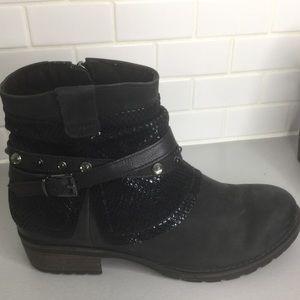 Tamaris Parai black ankle boots Sz 9